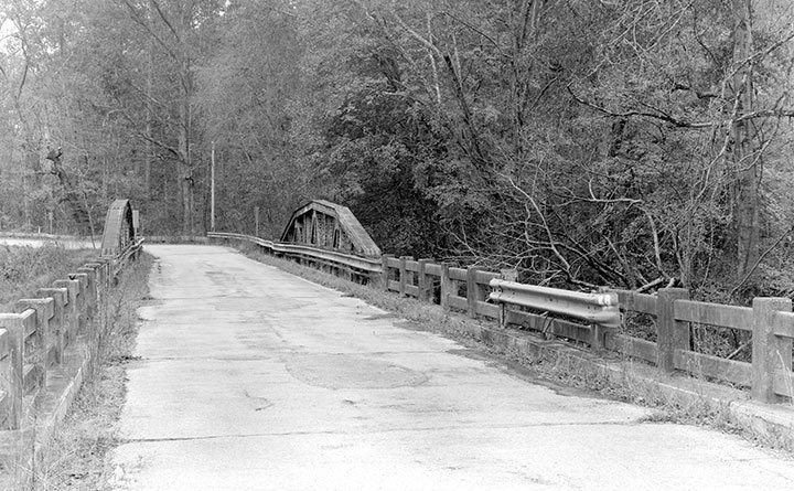 Road S-1-133 Bridge over Long Cane Creek in Abbeville County, South Carolina. The bridge was originally built in 1923. -Photo courtesy of the Library of Congress