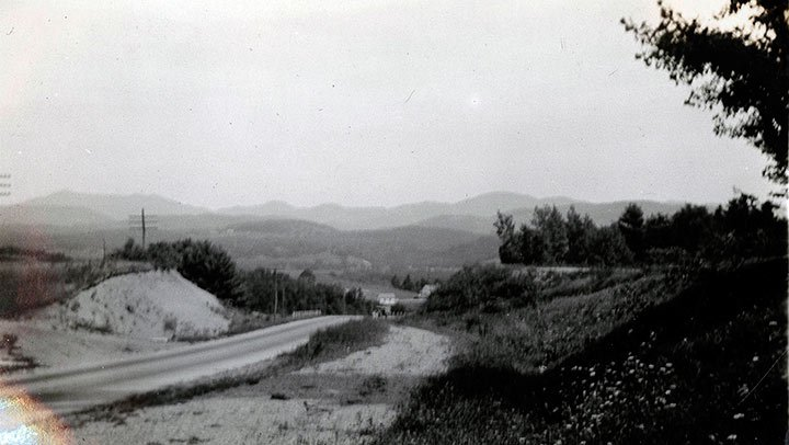Spartanburg Road to Landrum North in Spartanburg, South Carolina. Date the photo was taken was not provided. -Photo courtesy of South Caroliniana Library, University of South Carolina, Columbia, S.C.