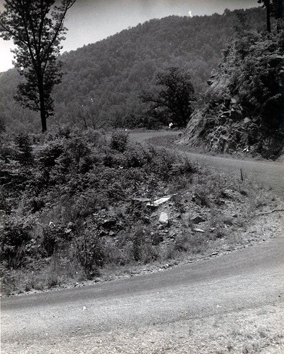 Roads in Oconee County, South Carolina. Date the photo was taken was not provided. -Photo courtesy of South Caroliniana Library, University of South Carolina, Columbia, S.C.