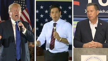 Trump, Rubio and Kasich squared off in a war of words following the violent outbreak in Chicago.