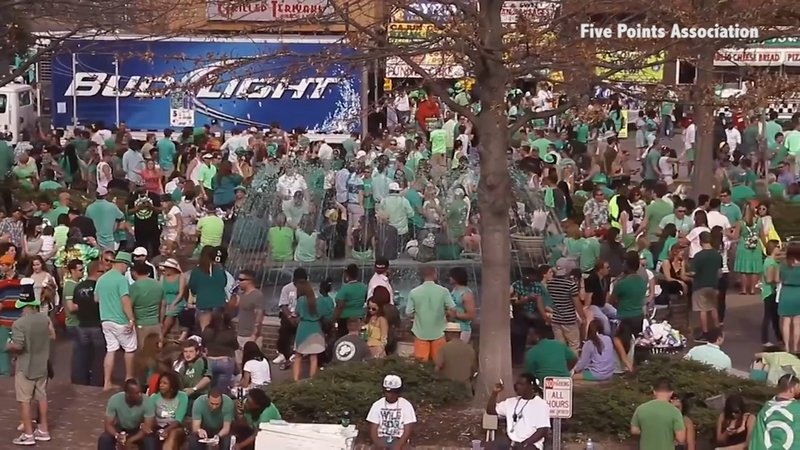 St. Patrick's Day in Five Points is one of the largest annual celebrations held in Columbia, SC.
