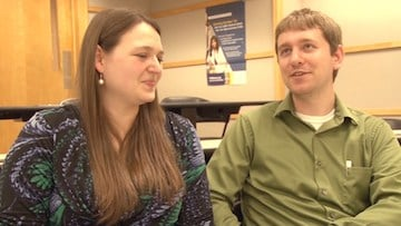 Sarah Cain and Sean Battle used 'Couple Match' during their application process.
