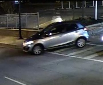 This light-colored compact car was seen near the scene of the crime