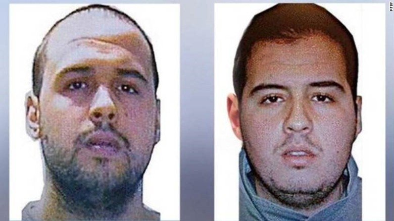 Brothers Khalid and Ibrahim El Bakraoui, both involved in Brussel's attacks.