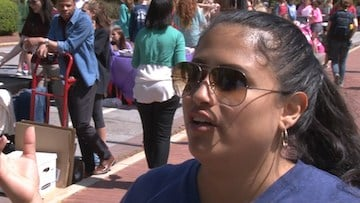 Licha Morales, a member of Kappa Delta Chi, helped organize the Taco Tuesday event.
