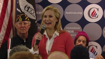 """Donald Trump threatened to """"spill the beans"""" about Ted Cruz's wife Heidi."""