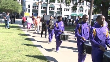 The Read-In featured a marching band, mascots and more.