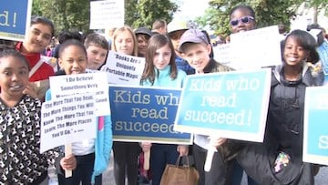 2,400 kids were in attendance for the 25 annual Read-In yesterday