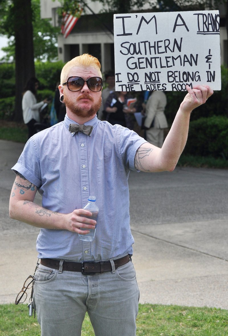 """Carter Girlardo, 36, said he was there """"representing Charleston."""" Multiple oganizations from across South Carolina were in attendance to show support of the protest."""