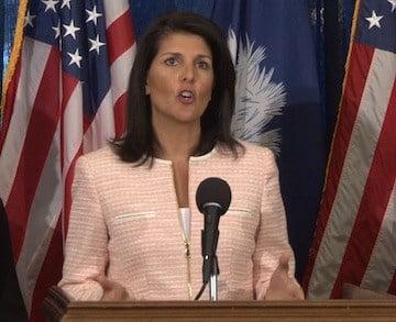 Gov. Nikki Haley spoke on the need for ethics reform at a presser on April 7.