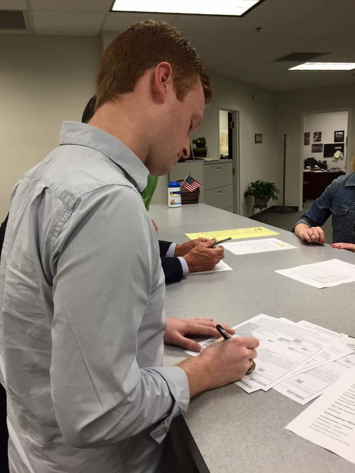 Mitchell signed the paperwork to run for the South Carolina House where he hopes to being a new prespective and new ideas to the state house.