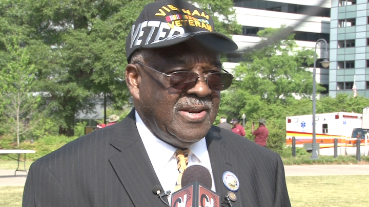 "James Brown says events like this help with the ""healing process"" for veterans."