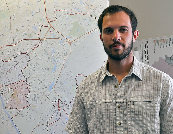Erich Miarka, program coordinator of the Gills Creek Watershed Association, has hopes that the city will make the rebuilding process as effective as possible and turn the floodplain areas back into its natural green space.