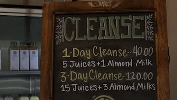 The juice cleanse packages at Southern Squeezed come with a combination of 100% juices and almond milks.