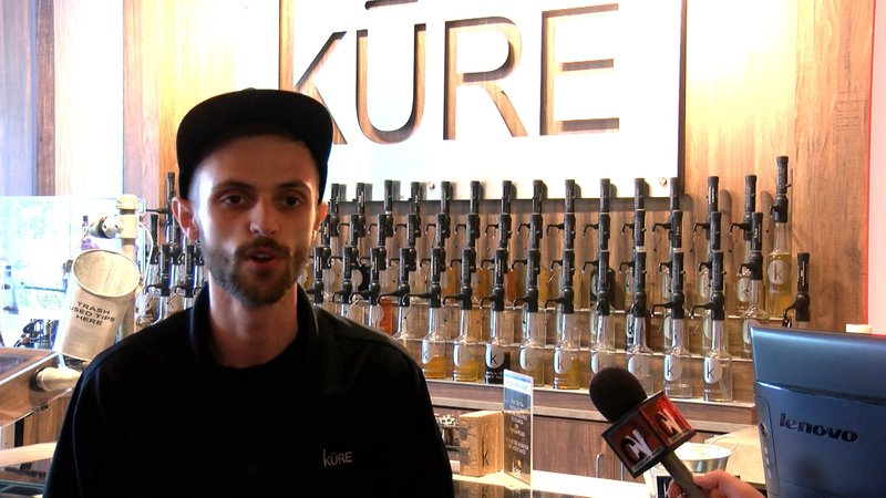 Brantingham says a lot of his customers buy lower nicotine level e-juices