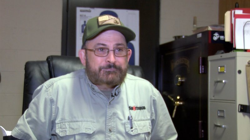 Gun store ownerl Wisher says he's seeing more and more women buying guns.