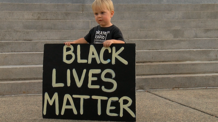 People of all ages and races showed their support on the steps of the Statehouse.