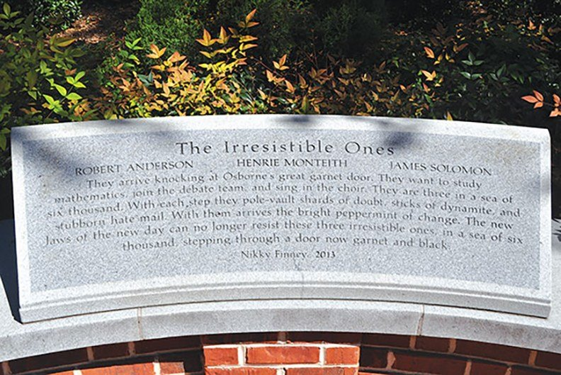 The University of South Carolina, which is hosting the Welcome Table, has a garden dedicated to the three students who desegregated USC in 1963.