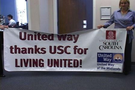 The United Way and USC teamed up to help the community.