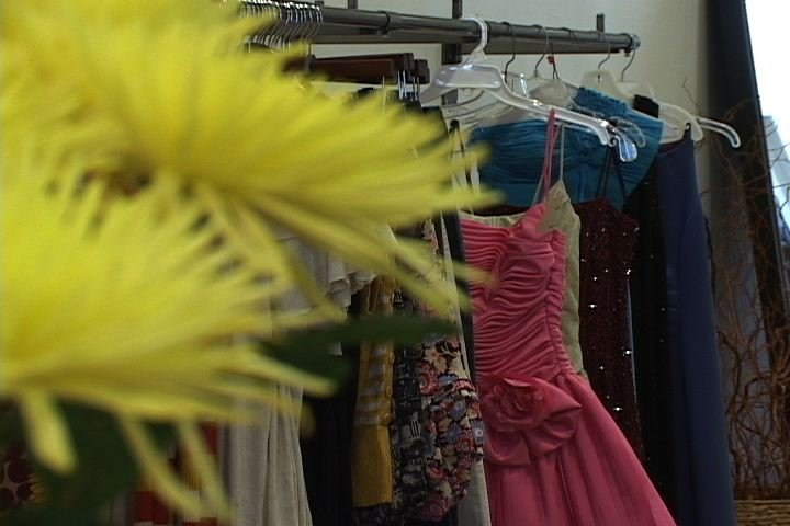 Dresses donated to Cinderella Project are available at the USC Law School.