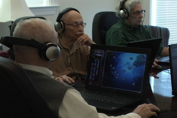 Residents use the new program that requires a laptop, headphones, and a mouse.
