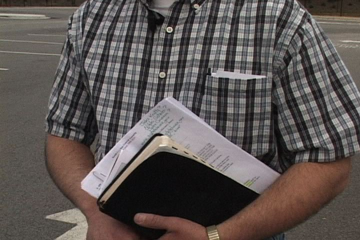 Leader of Columbia Christians for Life Holds his Bible