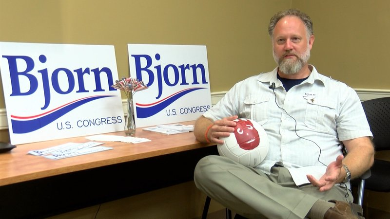 Arik Bjorn is running to represent South Carolina's Second Congressional District in November.