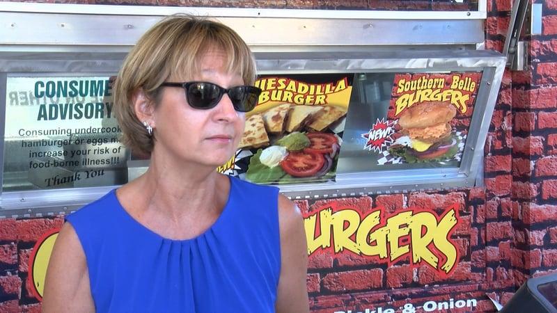 Carol Johnson orders 100 dozen Krispy Kreme donughts each day for her donught burgers.