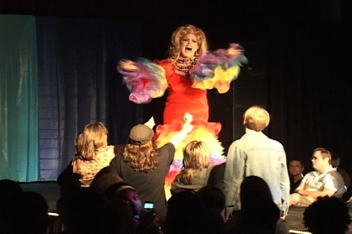 Patti O'Furniture was one of the many performers in BGLSA's, The Birdcage.