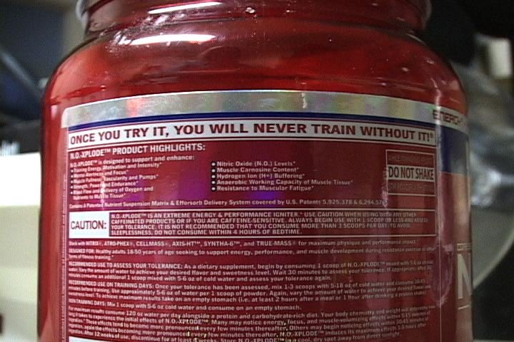 NO Xplode claims to boost endurance, speed and energy.
