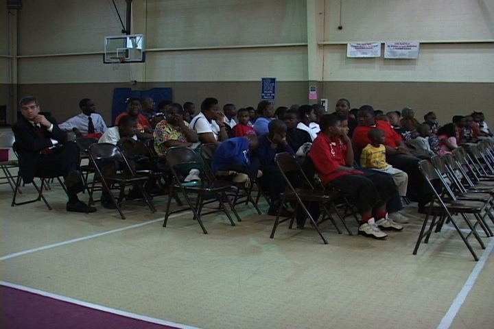 Columbia Residents listening to speakers at the truth and consequences forum last night
