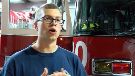 Matt O'Brian has always wanted to be a firefighter, so volunteering was a no-brainer.