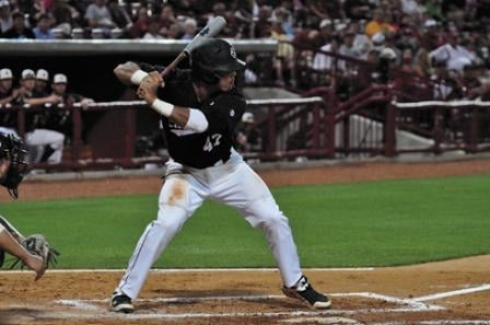 First baseman Nick Ebert's bat lead the Gamecocks to a win over the College of Charleston.