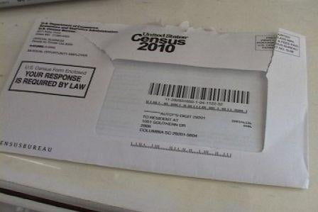 The 2010 Census was received by most Americans in their mailbox.