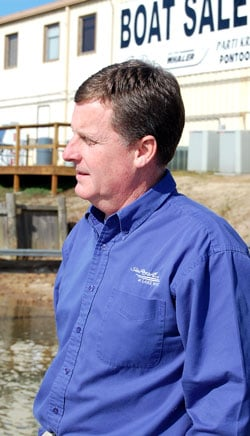 Lake Wylie Marina owner Jeff Hall looks to a new bill that will monitor water withdrawal on the Catawba River.  Hall's marina has suffered over the last several years as drought, evaporation and large companies have lowered lake levels.