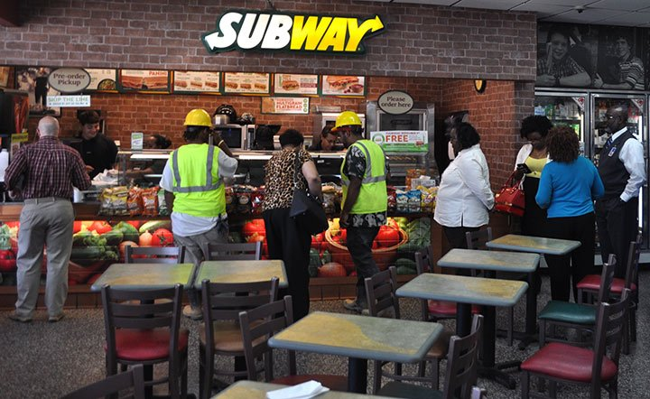 Subway is one of many sandwich chains celebrating National Sandwich Day. Subway's special was buy a sub and get another free.
