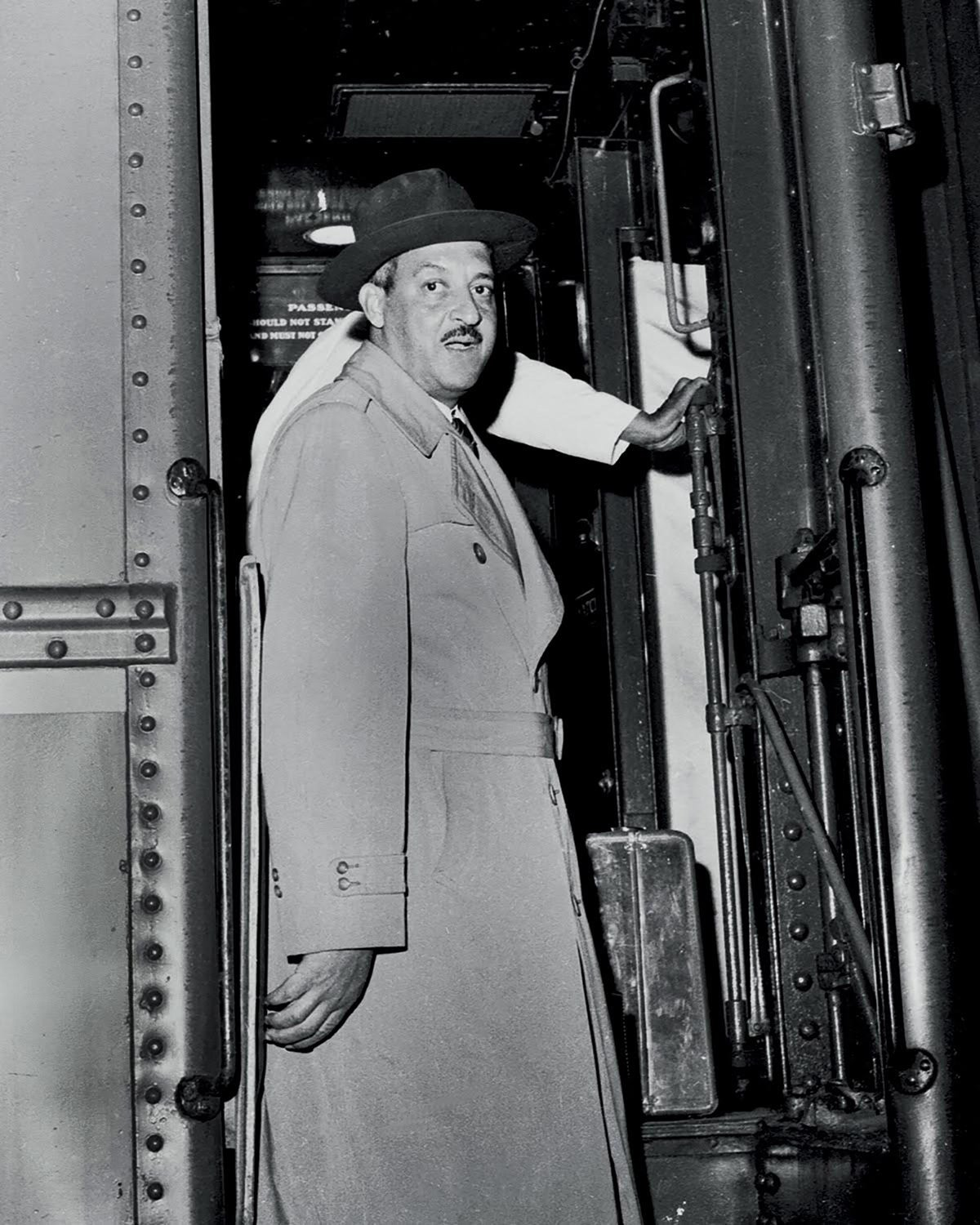 One of Williams' first photographs: Attorney Thurgood Marshall stepping off the train in Charleston. Marshall was in the state to prepare arguments for Briggs v. Elliot in Clarendon County. Courtesy: Cecil Williams