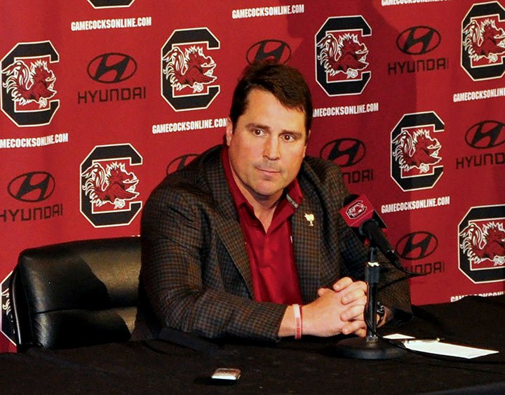 Head football coach Will Muschamp talks to the media leading up to Saturday's game against Western Carolina. A big topic Muschamp spoken about was the effor the senior players put into building a great program and defying media preseason expectations.