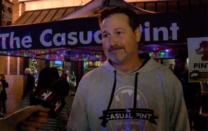 Robert Towne opened The Casual Pint four months ago. He was eager to participate in the restuarant's first Vista Lights.
