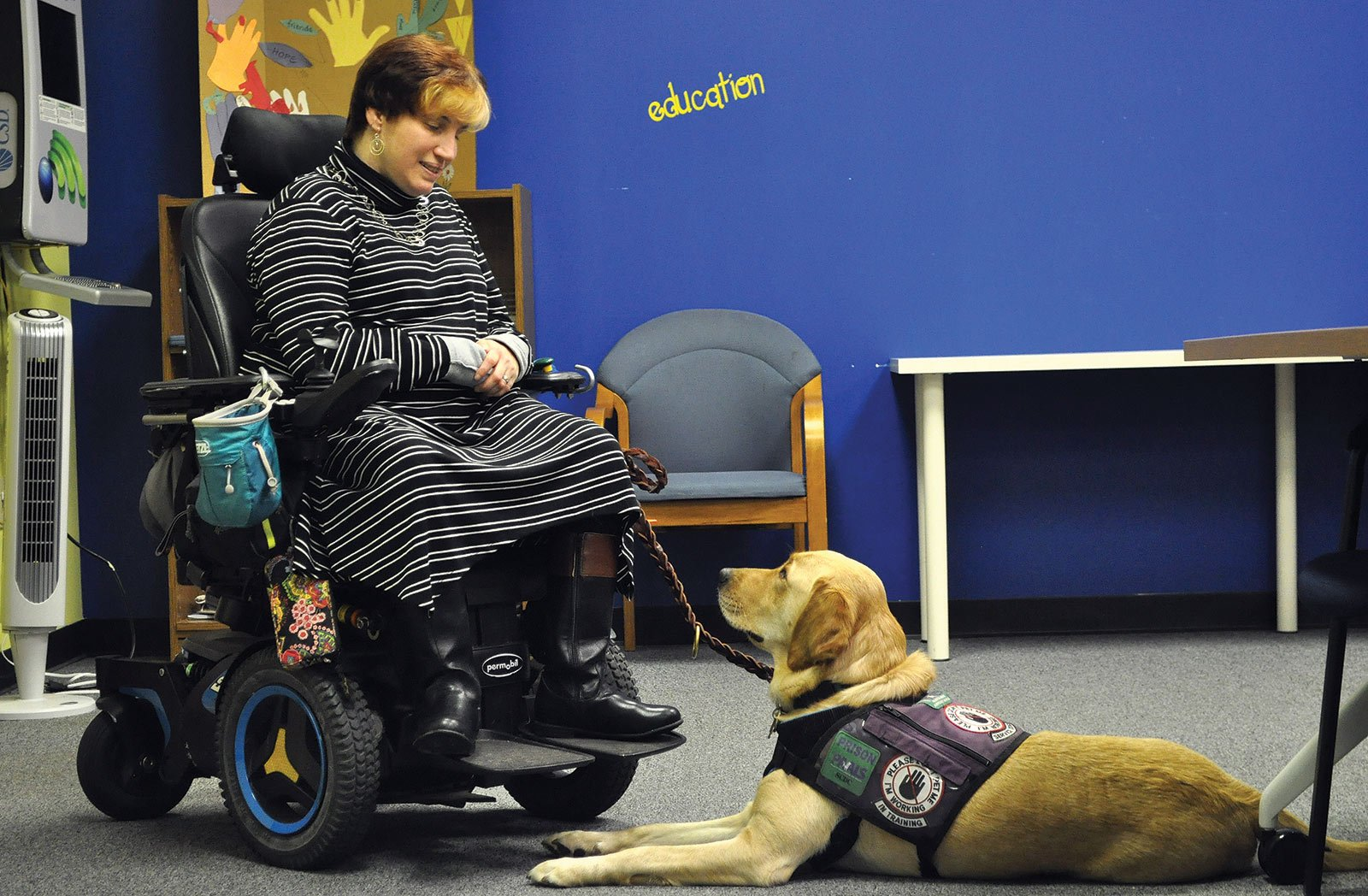 """Dori Tempio is the community outreach and consumer rights coordinator for Able South Carolina, an organization dedicated to providing independent living services to people of all ages with all disabilties. """"[He's] wonderful,"""" Tempio said."""
