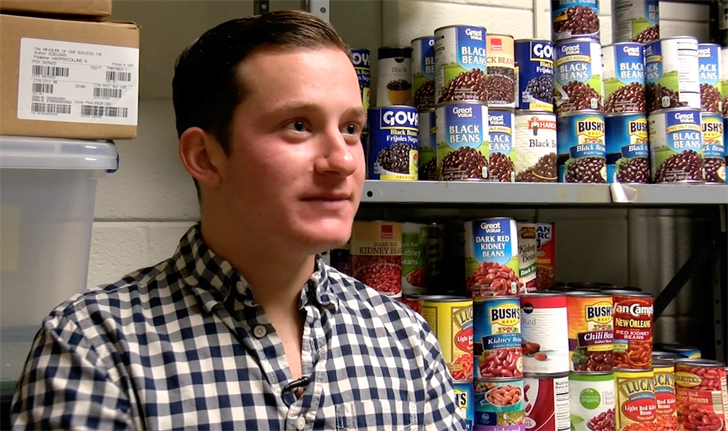 Senior Psychology student Jonathan Keefe has volunteered for Gamecock Pantry for two years. Keefe is now Director of the program, overseeing volunteers and donations.