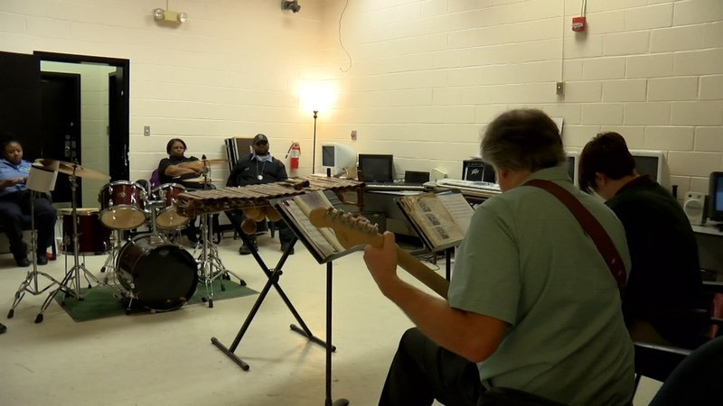 Kids play music, one of the several programs the DJJ offers to them.