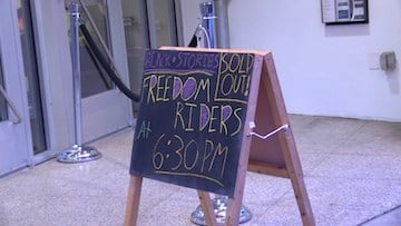"Monday's feature of ""Freedom Riders"" was sold out within two weeks of the showing's announcement."