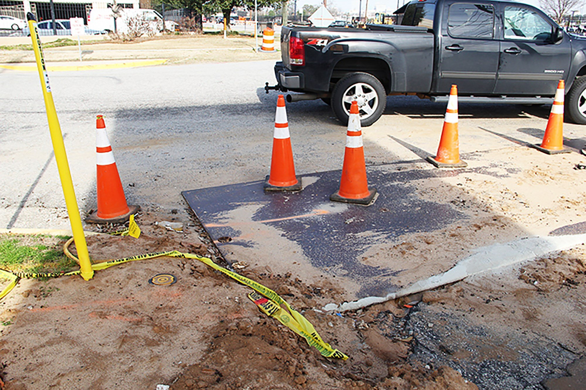 Gov. McMaster's request for federal aid will allot $2 billion towards paving and repairing South Carolina's interstate systems and primary roads. This area, the corner of Hemlock Road and Bluff Road, is already being worked on by the highway department.