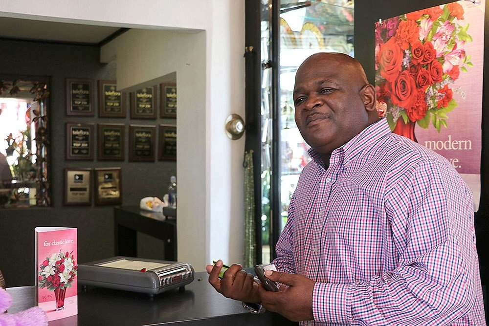 Frequent Blossom Shop customer Angelo Anderson ordered a bouquet for his wife the day before Valentine's Day from the Devine Street store. His last-minute purchase cost him more than his usual gifts of flowers due to high demand.