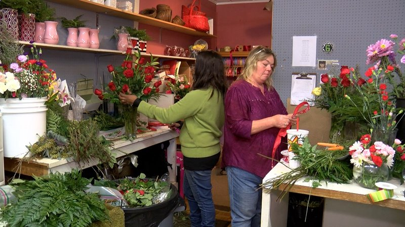Local floral shops call in extra help for Valentine's. Forget Me Not Florists have about 13 employees for the holiday.