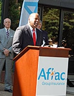 Columbia Mayor Steve Benjamin says Aflac's jobs announcement shows the city's economic development efforts are working.