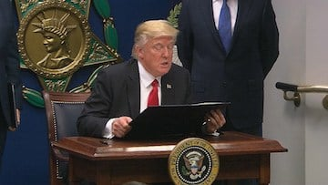 President Donald Trump announced he will be making a new executive order on immigration.
