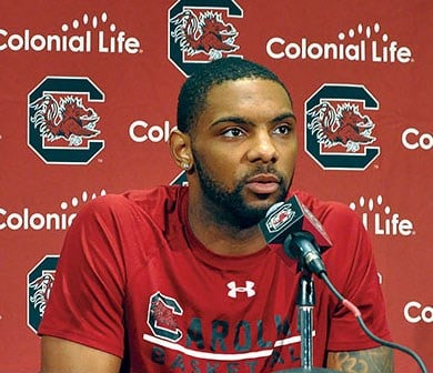 Senior guard Sindarius Thornwell said it's important for the seniors on the team to lead the younger players and keep them focused as the season nears its end. The Gamecocks will play Florida after a rough patch of three recent losses.