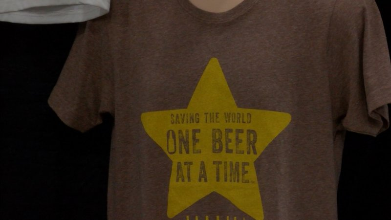 Shirts made from Earthspun Apperal are made from recycled beer bottles.